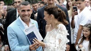 Macri participó de la fiesta de casamiento de Tevez