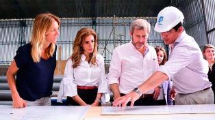 Frigerio y la gobernadora visitaron obras de agua potable y tratamiento cloacal