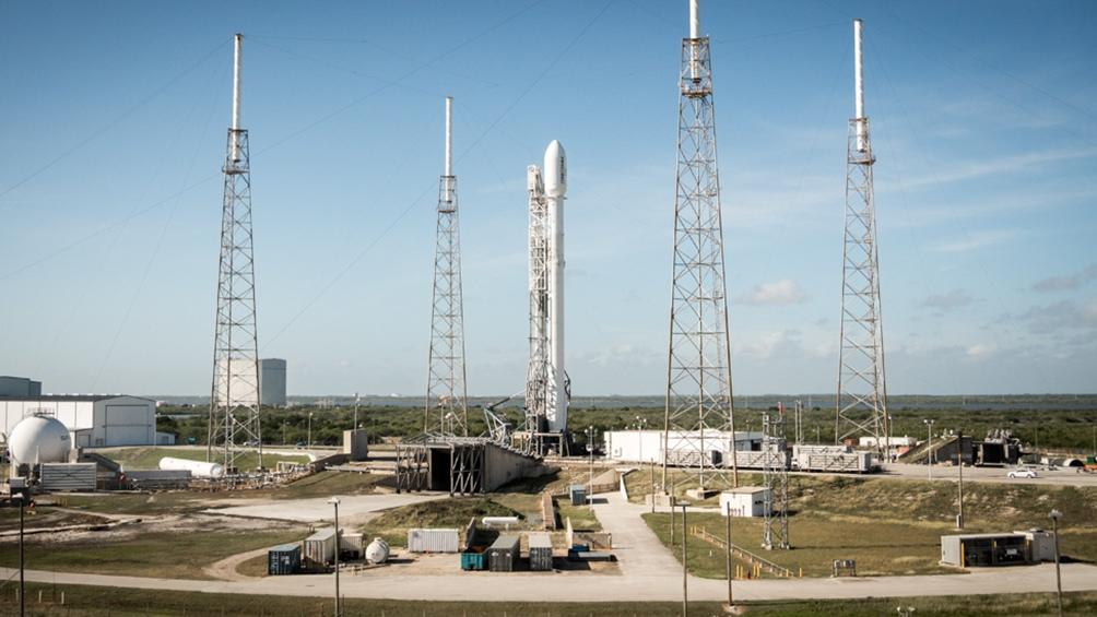Imagen de archivo del Space X Falcon 9.