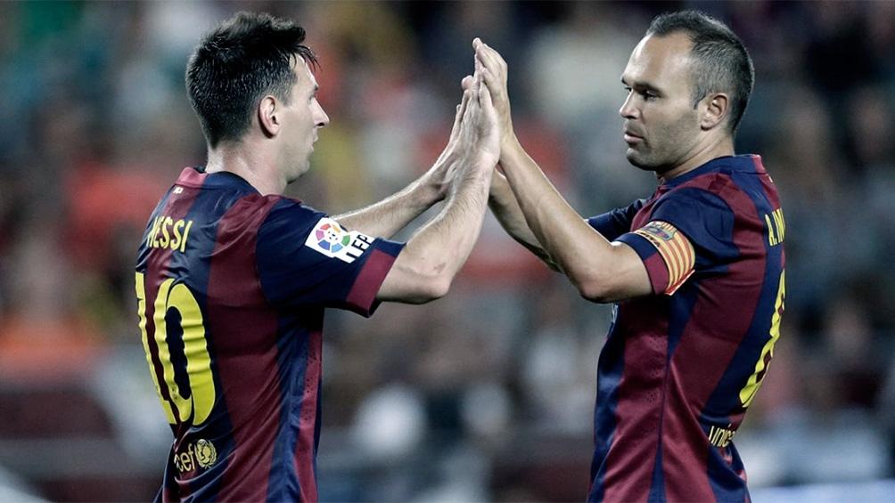 Messi e Iniesta en su gloriosa época en Barcelona.