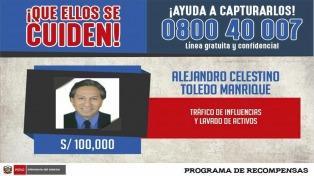 El gobierno ofrece recompensa para dar con el paradero del ex presidente Toledo