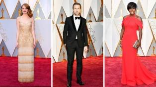 Glamour y una sobria elegancia fue lo que dejó la alfombra roja