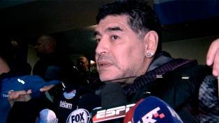 Diego Maradona mostró su pesar por la confirmación del fallecimiento de Sala