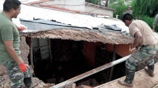 Comenzó el trabajo de reconstrucción de las viviendas más afectadas por el alud