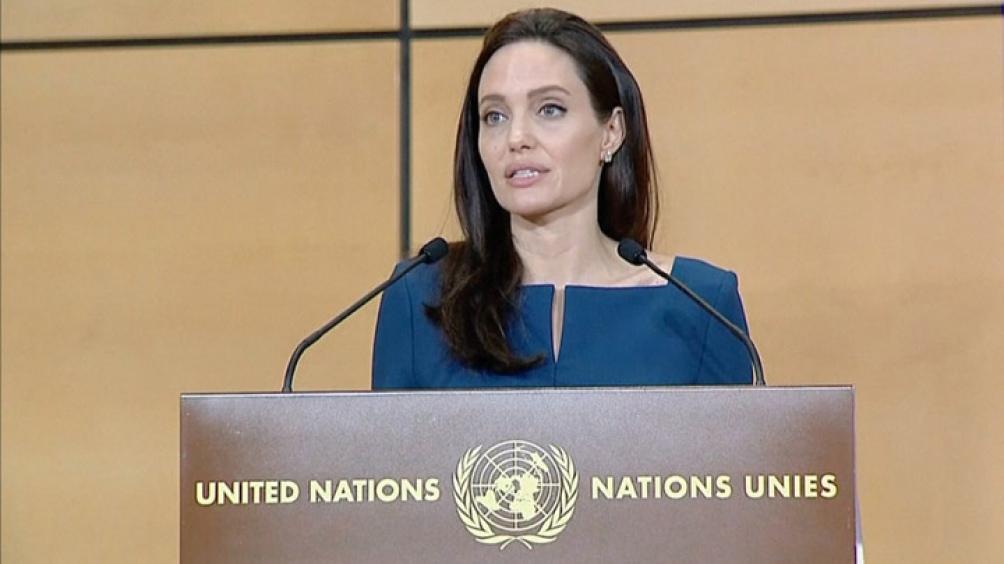 Angelina es embajadora ante el Alto Comisionado para los Refugiados de Naciones Unidas.
