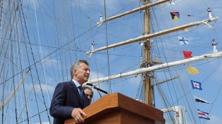 Macri encabezará el acto por el Día de la Independencia en la Fragata Libertad