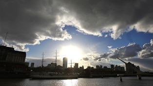 Viernes algo nublado con una máxima de 14 grados en la Ciudad de Buenos Aires