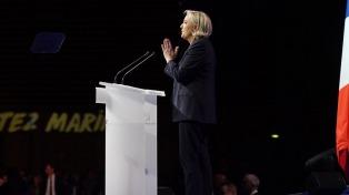 Polémico plagio de Le Pen para atraer a los votantes de derecha