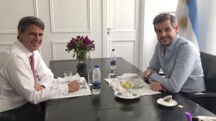 """Marcos Peña almorzó con Prat Gay y dijo que ambos comparten una """"visión del país"""""""