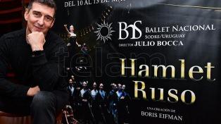 """Julio Bocca, al frente del ballet uruguayo del Sodre, estrenó su """"Hamlet Ruso"""""""