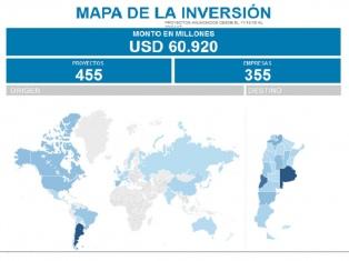 El Gobierno lanzó el mapa oficial de las inversiones en la Argentina