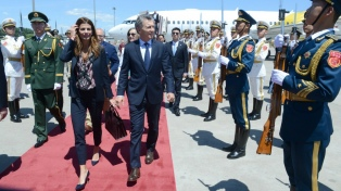 Macri llegó a Beijing para una visita de Estado de cinco días a China