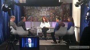 La aparición de Cristina en TV mereció críticas del oficialismo y aprobación de los suyos
