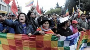 Amnistías e indultos, pedidos indígenas a Moreno y al Parlamento