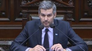 Peña dijo en Diputados que terminó la recesión y cargó contra Massa y el kirchnerismo