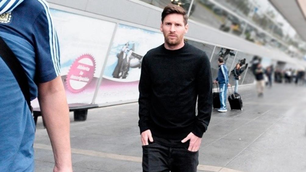 Messi estuvo recuperándose de un dolor en un tobillo