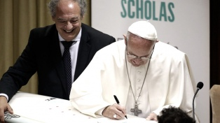 Francisco inaugurará la sede italiana de Scholas Occurrentes