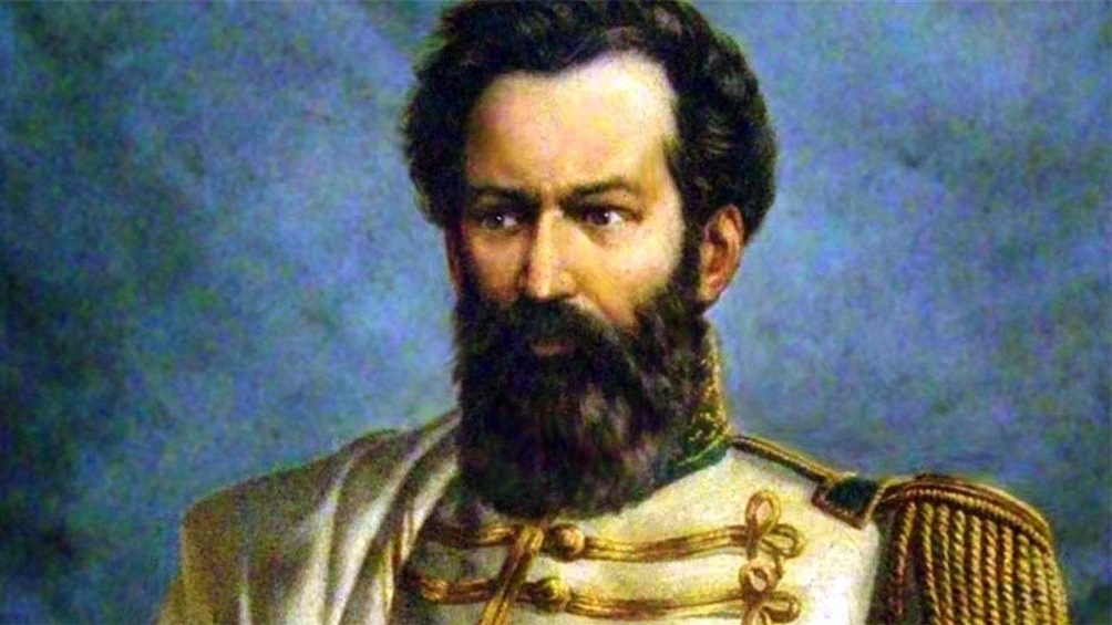 Uno de los pocos retratos del prócer.