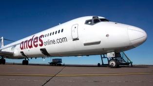 Andes comienza a volar en marzo a Comodoro Rivadavia