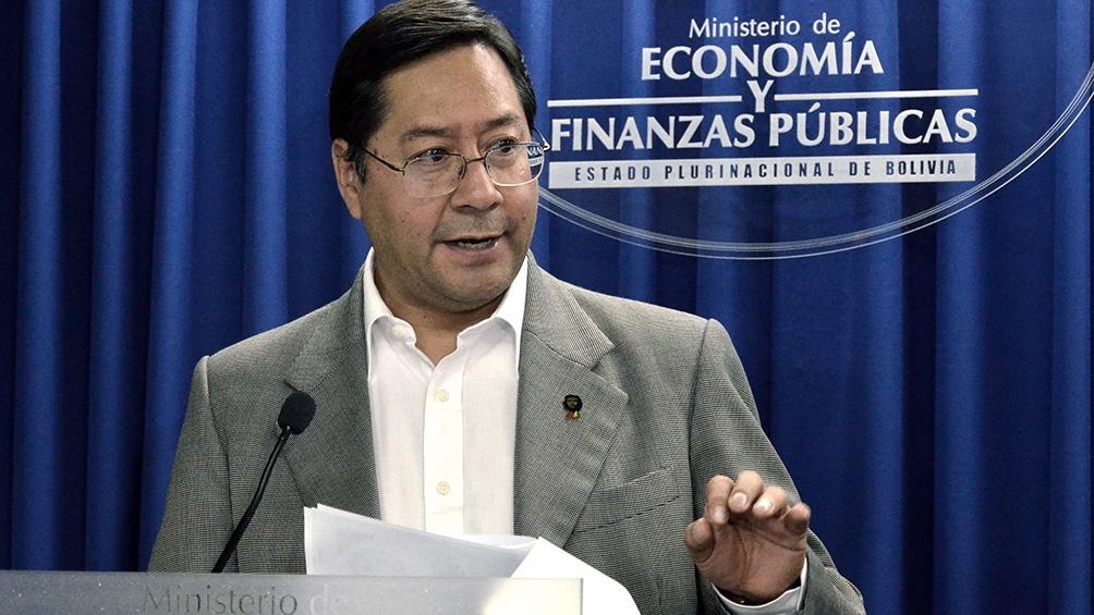 """Arce habló de una """"arremetida"""" judicial contra el depuesto presidente Evo Morales."""