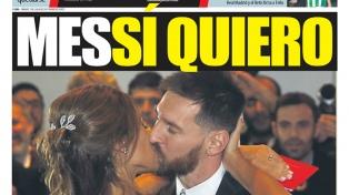 Los diarios del mundo se enamoraron de Lionel y Antonela