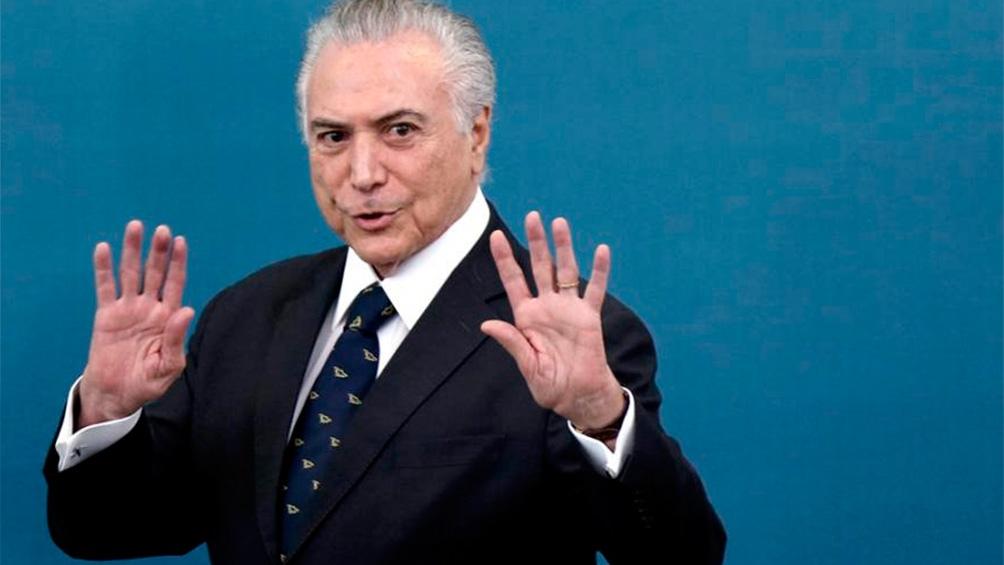 Michel Temer, presidente de la República Federativa del Brasil desde agosto de 2016