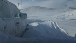 """Con más de 70 centímetros de nieve """"resulta fácil perder el camino y desorientarse""""."""