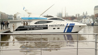 Bullrich entregó un yate de Ricardo Jaime a la Prefectura Naval Argentina