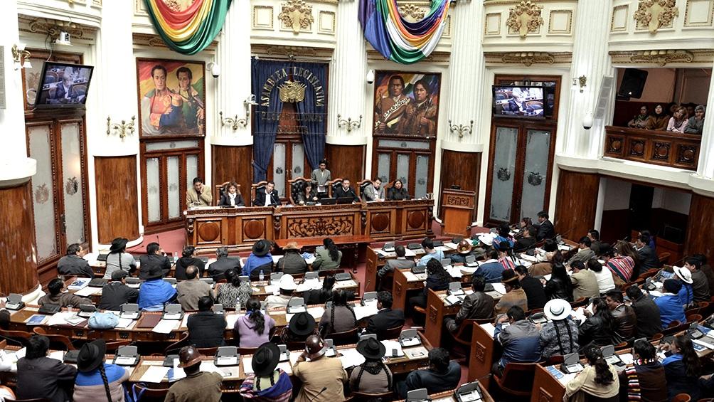 """El Senado boliviano rechazó hoy la resolución adoptada hace una semana por el Parlamento Europeo, en la que se denunciaba la detención """"arbitraria e ilegal"""" de la expresidenta de facto Jeanine Áñez,"""
