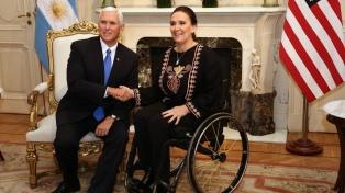 Michetti recibió a su par estadounidense en la Casa de Gobierno
