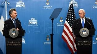 """Macri y Pence hablaron en Olivos de reforzar el """"lazo estrecho"""" entre la Argentina y Estados Unidos"""