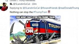 Trump volvió a tuitear un mensaje violento contra la CNN