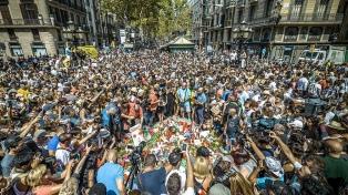 Medio millón de personas marcharon en Barcelona contra el terrorismo