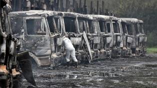 Un herido y varios camiones dañados en un ataque incendiario en La Araucanía