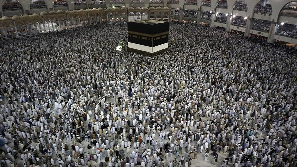 La peregrinación a la Meca solía convocar, en tiempos de prepandemia, a más de 2,5 millones de musulmanes de todo el mundo. Foto: AFP.