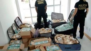 Afirman que las valijas con 17 millones de dólares son de un amigo de Temer