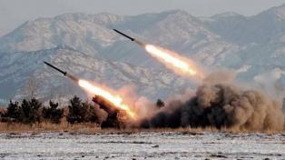 Norcorea lanzó varios proyectiles desde la costa del Mar de Japón