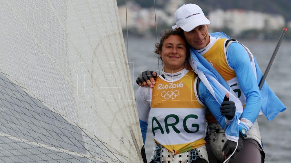 Lange y Carranza Sarioli, ganadores de la medalla de oro en Río 2016, en clase Nacra 17