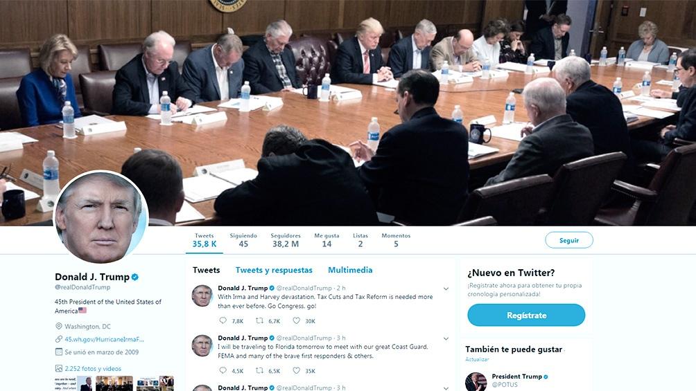 Twitter suspendió temporalmente la cuenta de Trump