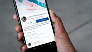 Facebook crea una herramienta para donar sangre
