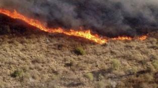 Controlaron el incendio en Ámbul, en la zona de Traslasierra