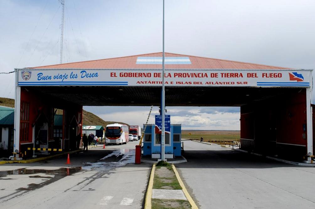 El paso fronterizo San Sebastián (Tierra del Fuego), exceptuado de las restricciones de ingreso y egreso.