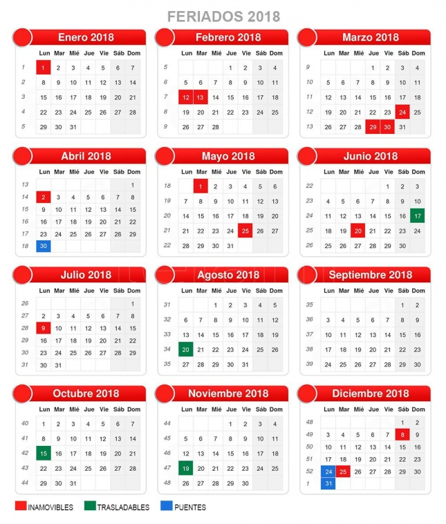 Calendario 2018 Pais Vasco