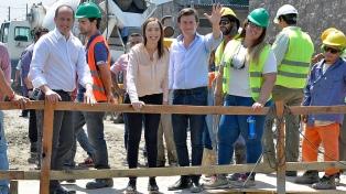 Vidal e Insaurralde recorrieron las obras para prevenir inundaciones