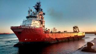 El Sophie Siem regresó al puerto de Comodoro, tras finalizar la búsqueda de sobrevivientes