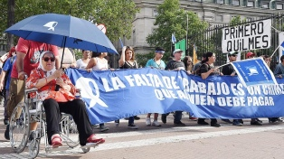 Movilización y reclamo por los ex funcionarios kirchneristas detenidos