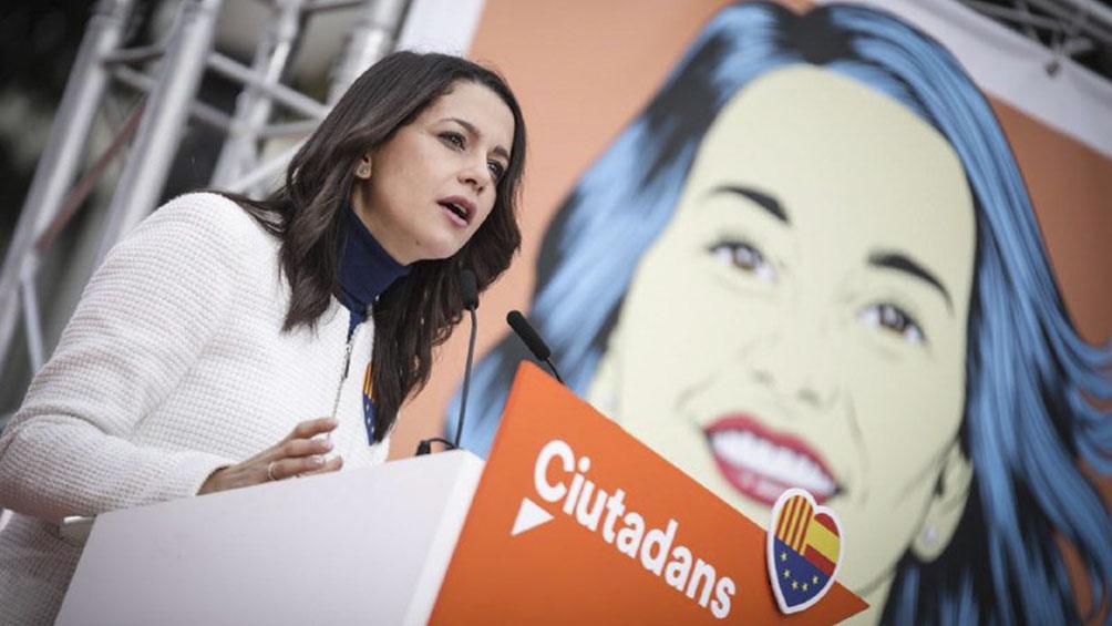 Inés Arrimadas, líder de Ciudadanos y Jefa de la oposición catalana