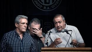 Barrionuevo, Moyano, Schmid, Acuña, Palazzo y Piumato, reunidos en Mar del Plata