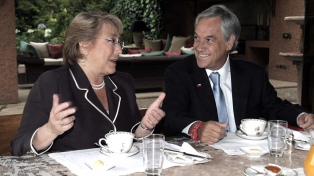 Reunión y desayuno de trabajo en el primer encuentro entre Bachelet y Piñera