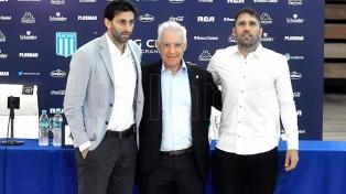 Coudet y Diego Milito fueron presentados en Racing
